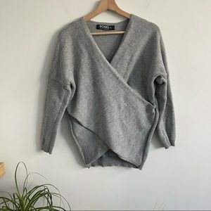 Yoins Your Inspiration - Wrap Knit Sweater Top